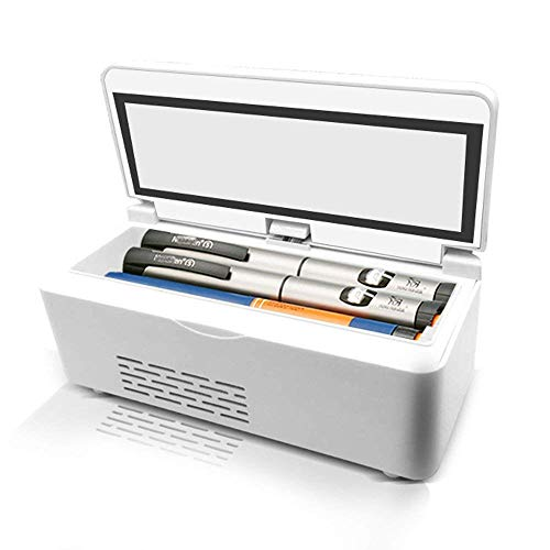 Refrigerador Caja refrigerada de insulina Medicina Nevera Portátil Recargable De Insulina Caja...