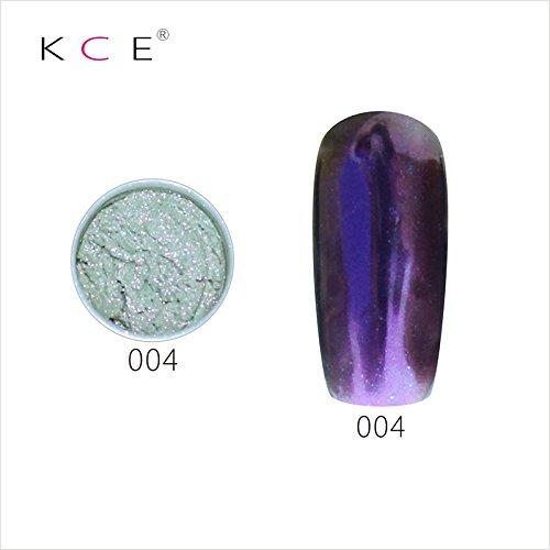 topbeauty Nail Art Paillettes Brillant miroir chrome Pigment poudre Nail Art Outils avec éponge en 4
