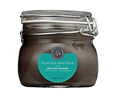 Exclusive Pure & Organic Dead Sea Mud Mask for Face, Acne, Oily Skin & Blackheads - Best Facial Pore Minimizer, Reducer & Pores Cleanser Treatment - Natural for Younger Looking