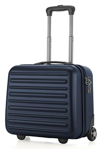 HAUPTSTADTKOFFER - Tegel - Pilotentrolley Hartschalenkoffer Koffer Handgepäck Trolley Rollkoffer, TSA, 38 cm, 32 Liter, Dunkelblau
