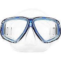 Delicacydex AM-308 Adulto Capa Doble Impermeable Antiniebla de Silicona Transparente de Gran Área Máscara
