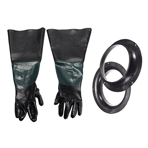 Homyl 60 cm Gummi Arbeitsschutz Handschuhe mit Halter, 1Paar