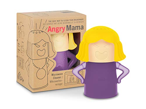 Brainstream Mikrowellenreiniger Angry Mama I Farbe lila/gelb