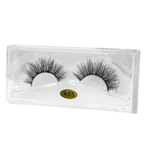 WYXlink 3D Natural Multi Layer Dicke Cross Eye Wimpern falsche Wimpern Fake Eyelashes (P)
