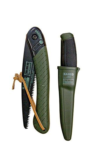 Bahco LAP BHLAP-Knife Jeu de Couteau et Scie Pliable, Multicolore