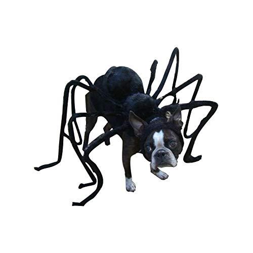 TAIMEI Lustiges Haustierkostüm für Hunde und Katzen, Spinnen-Design, Gruselrequisite, Horror-Party, Bösewicht und Terror Tiere, DIY Halloween
