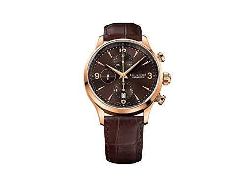 Montre Automatique Louis Erard 1931 Chrono, 42,5mm, PVD, Marron, 78225PR16.BRC03