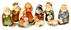 Idea Regalo - Timtina® - Set di statuine per presepe, 11 pezzi