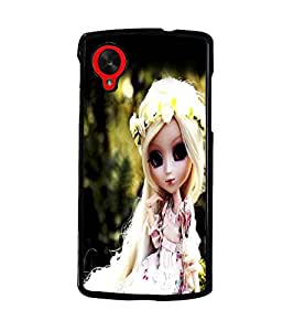 PrintDhaba Cute Doll D-1042 Back Case Cover for LG GOOGLE NEXUS 5 (Multi-Coloured)