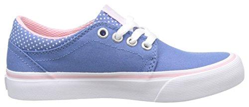 DC Shoes Trase Tx Se, Baskets Basses Fille Multicolore (Blue/White Print)
