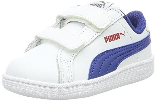 Puma Smash Fun L V Inf, Sneakers Basses Mixte Enfant, Blanc (Puma White-True Blue 12), 25 EU