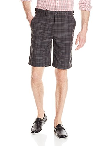 Madras Plaid Shorts (Haggar Herren Cool 18 Expandable Waist Plain Front Madras Plaid Short - grau - 56)