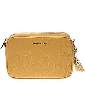Michael Kors Leather Mujer Cross Body Bag Amarillo