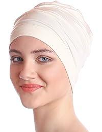 Coton uni Bonnet Pour La Perte De Cheveux, Chimo | Bonnet de Nuit - Creme