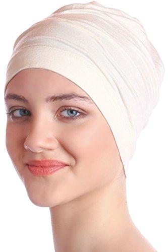 mwolle für Krebs, Haarverlust - Schlafmütze (Cream) (Hut Herzstück)