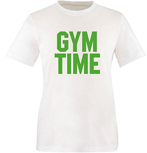 EZYshirt® Gym Time Herren Rundhals T-Shirt Weiß/Grün