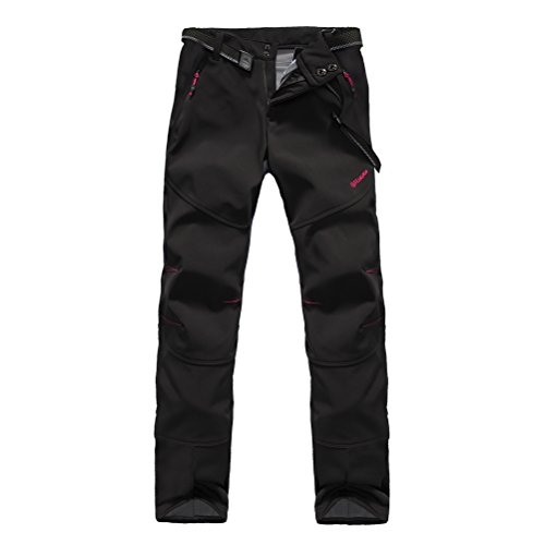 Softshellhose Damen Wasserdicht Atmungsaktiv Funktionshose Zip Off Winter Ski Hose Outdoor