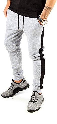 4322d734181e71 FiveSix Herren Jogginghose Freizeithose Sporthose Trainingshose  Fitnesspants Sweatpants Hose Grau Schwarz M