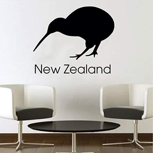 Knncch Neuseeland Kiwi Wandaufkleber Büro Wanddekor Vinyl Abnehmbare Selbstklebende Vogel Wandbild Diy Dekoration