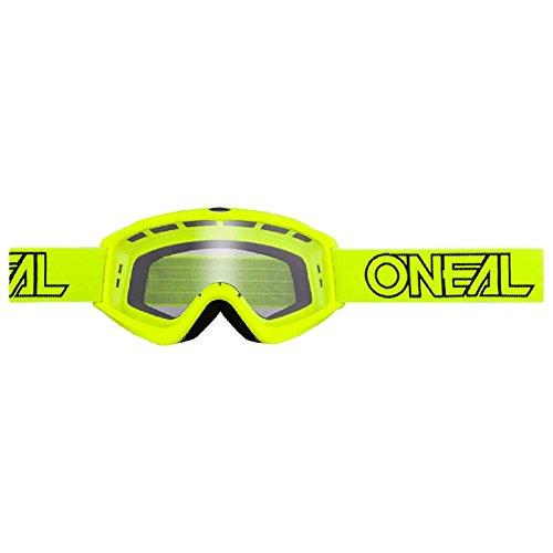 O'Neal B-Zero Goggle Moto Cross MX Brille Downhill DH Enduro Motorrad, 6030-11, Farbe Neon Gelb