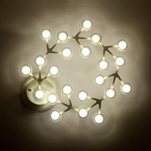 Imagen para WSYYWD Lámpara de techo Led Starlight de montaje en superficie diseñada Sala de estar en el hogar Dormitorio Iluminación de oficina 36 cabezas Techo redondo Blanco cálido