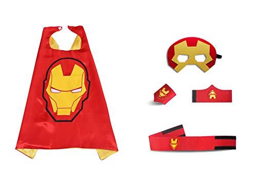 JLZK Trajes superhéroe Navidad niños se Visten Capas