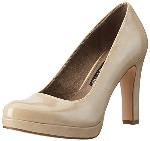 Tamaris Damen 22426 Pumps, Beige (Cream Patent 450), 39 EU