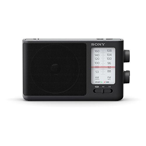 Sony ICF506.CED - Radio portátil (FM/Am de sintonización analógica con Auriculares, asa de Transporte, Adaptador CA) Negro