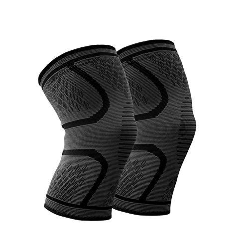 WHCREAT Kniebandage Kompression Knieschoner Knieschutz Knie Ärmel Hilfe Joint Pain Relief für Meniskusriss, Arthritis, ACL-Verletzung Sport (1 Paar) Größe M