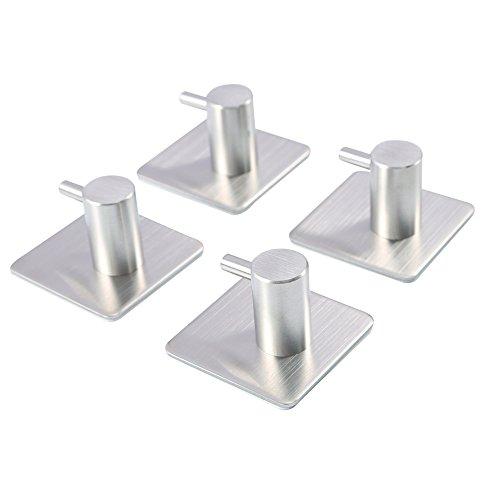 3 Stück-schlafzimmer-tabelle (hghmlife 4Stück Klebehaken, strapazierfähig, 3m Haken Edelstahl Wasserdicht Wand hooks-4Pack)