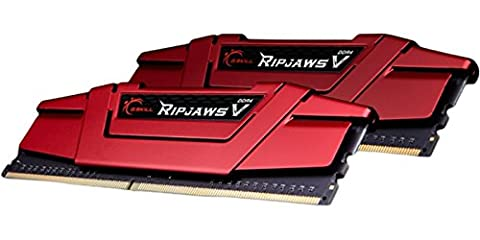 G.SKILL Ripjaws V Series F4-2400C15D-8GVR 8 GB (4 GBx2) DDR4 2400 MHz C15 1.2 V Memory Kit - Blazing Red