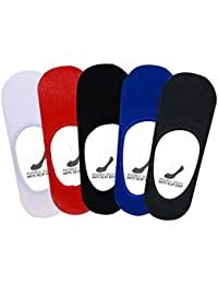 Supersox - Men's Anti Slip No Show Socks Pack of 5