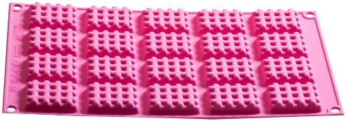 Nicol WC-Champ 4223225 WC-Wischer ohne Borsten und Bürste mit Silikon-Pad, Edelstahl, schwarz/Chrom, 12.0 x 12.0 x 38.0 cm (Waffel-pad)