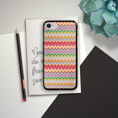 Apple iPhone X Silikon Hülle Case Schutzhülle Azteken Zickzack Bunt Muster Hard Case schwarz