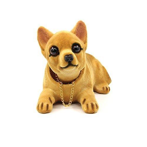 Sopito Coche Auto Chihuahua Asintiendo Con La Cabeza Cabezón Tablero Perros Decoraciones Juguete