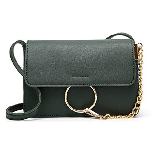 Kleine Tasche Damen Neue Mode Wilden Schultertasche Handtaschen Casual Umhängetasche 22 * 14 * 18cm,Green-22 * 14 * 18cm