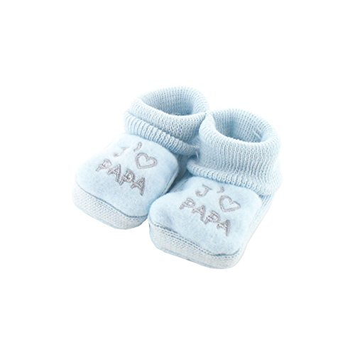 Chaussons pour bébé 0 à 3 Mois bleu - J'aime papa