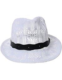 Laisla fashion Bonnets Panama Chapeau Dames De La Mode en Tricot De Feutre  Classique Chapeau Western Cowboy Chapeau Casquettes Vintage… 088f1202b2b