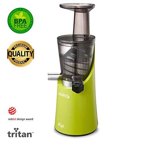 Extractor de zumo en frío Siquri Essenzia Pro Green 32 rpm | Extractos naturales de frutas y verduras...