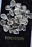 Ensemble de runes à quartz clair Ensemble de runes de Tumble Reiki Healing Stones Velvet Pouch 25 PC