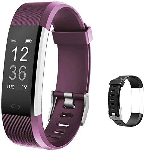 Lintelek Fitness Armband mit Pulsmesser Fitness Tracker Smartwatch wasserdichter IP67 Schrittzähler Aktivitätstracker mit Vibrationsalarm Anruf SMS Whatsapp für iPhone Android Handy
