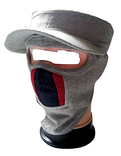 eTijaarath Cap Style Ninja Mask White Color With Red &...