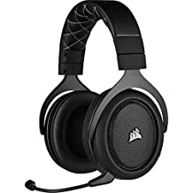 Corsair HS70 Pro Wireless Gaming Headset (7.1 Surround Sound, Ultra lage latency, 12 meter bereik, Vederlicht ontwerp,  Afneembare ruisonderdrukkende microfoon, voor PC en PS4) zwart