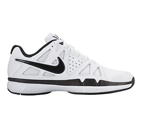 Nike Air Vapor Advantage Leather, Chaussures de Tennis Homme Blanco (White / Black-Dark Grey)