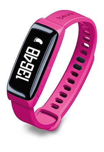 Beurer AS 81 BodyShape Aktivitätssensor, Analyse und Überwachung der körperlichen Aktivität mit Schlafanalyse, Bluetoothübertragung an BodyShape-App, Pink Pink-coach Armband