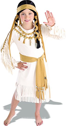 Rubie's Costume Indian Princess Child's Value Costume, One Color, Medium by Rubie's Costume - Kind Weiß Indian Girl Kostüm