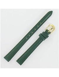 Bracelet de montre en cuir de vachette classic 10mm Vert - Vert-08, 10 mm