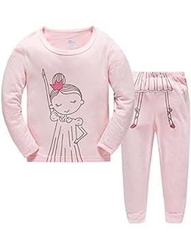 Hugbug Pigiami Lungo Bambina Cotone Stampa Danza 2-7 Anni