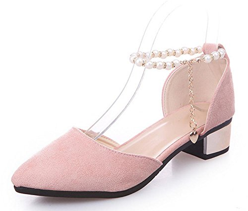 Wort Schnalle zeigte flache Schuhe Baotou Frauen Sandalen Sommerschuhe Pink