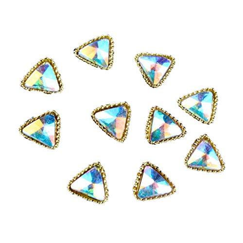 Baosity 10x Paillettes Téléphone Cas 3d Nail Art Astuce Décoration Design Diamant Gemme Autocollant - Charms Triangle